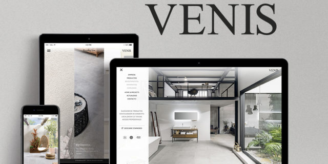 Venis presents its website